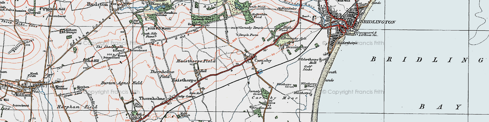 Old map of Carnaby in 1924