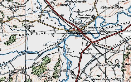 Old map of Carnedd in 1921