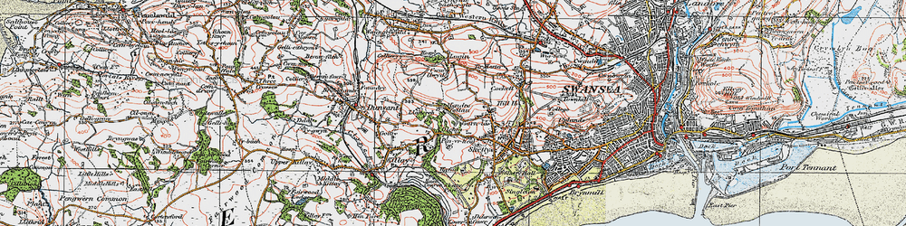 Old map of Carnglas in 1923