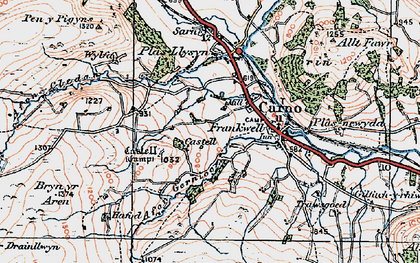 Old map of Carno in 1921
