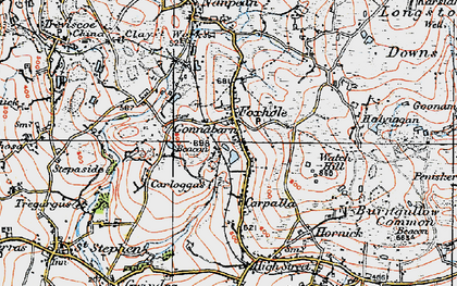 Old map of Carpalla in 1919