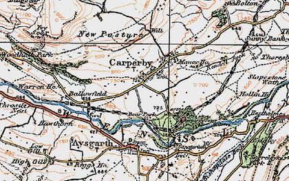 Old map of Carperby in 1925