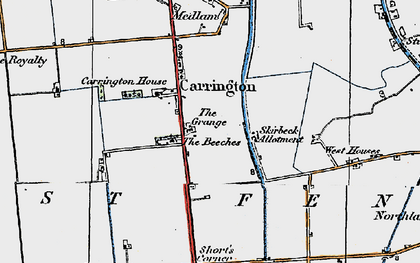 Old map of Barkers Yard in 1923