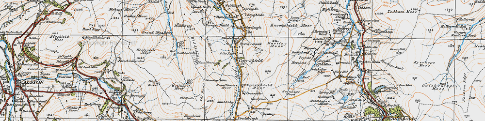 Old map of Whiteley Shield in 1925