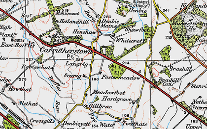 Old map of Whitecroft in 1925