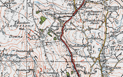Old map of Carthew in 1919
