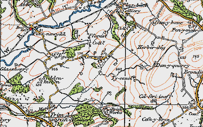 Old map of Carway in 1923