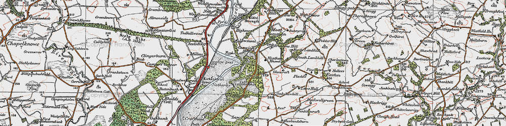 Old map of Willow Pool in 1925