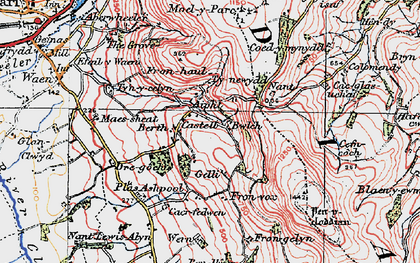 Old map of Castell in 1924