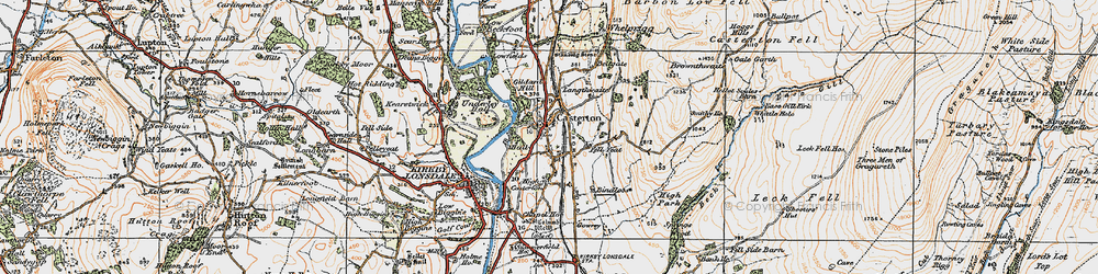 Old map of Whittle Hole in 1925