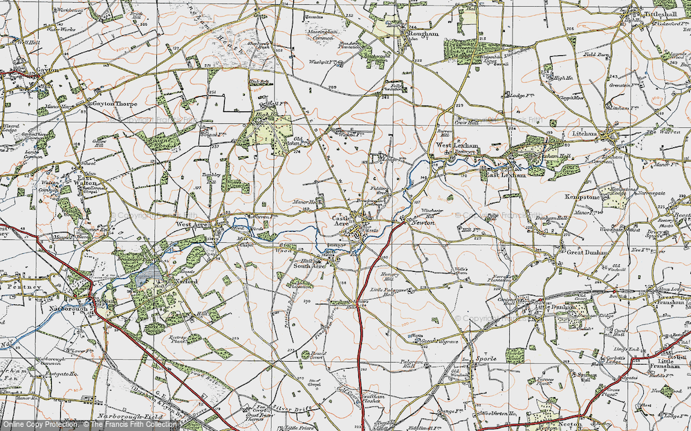 Old Map of Historic Map covering Bailey Gate in 1921