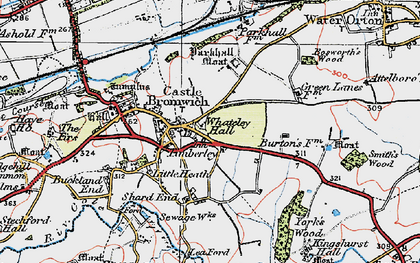 Old map of Castle Bromwich in 1921