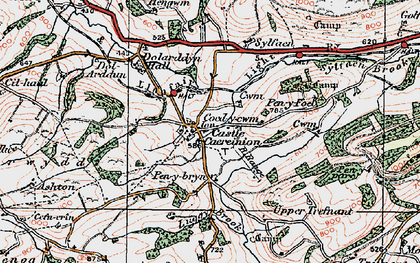 Old map of Y Figyn in 1921