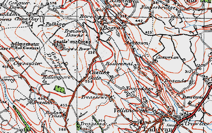 Old map of Castle Gate in 1919