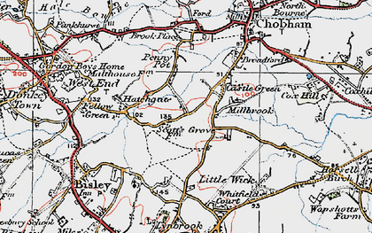 Old map of Castle Green in 1920