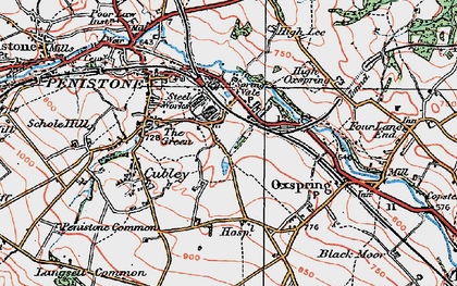 Old map of Castle Green in 1924