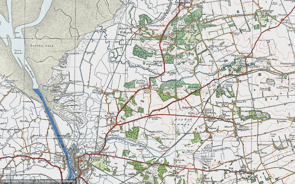 Old Map of Castle Rising, 1922 in 1922