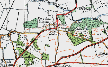 Old map of Castle Rising in 1922