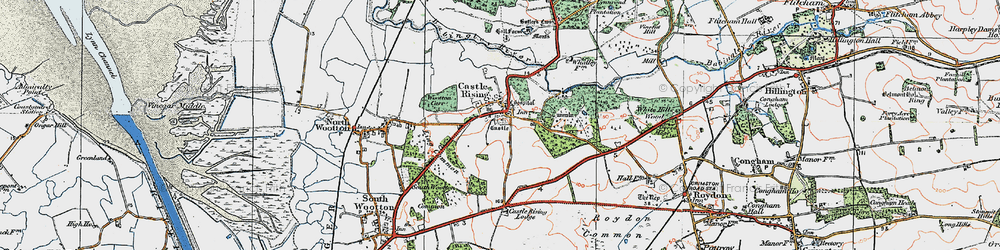 Old map of Wootton Carr in 1922