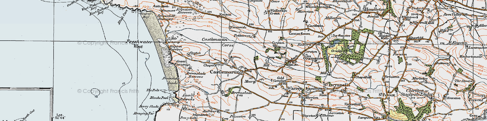 Old map of Wogaston in 1922