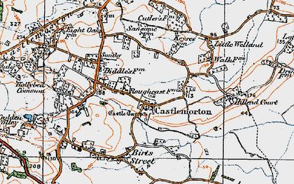 Old map of Castlemorton in 1920