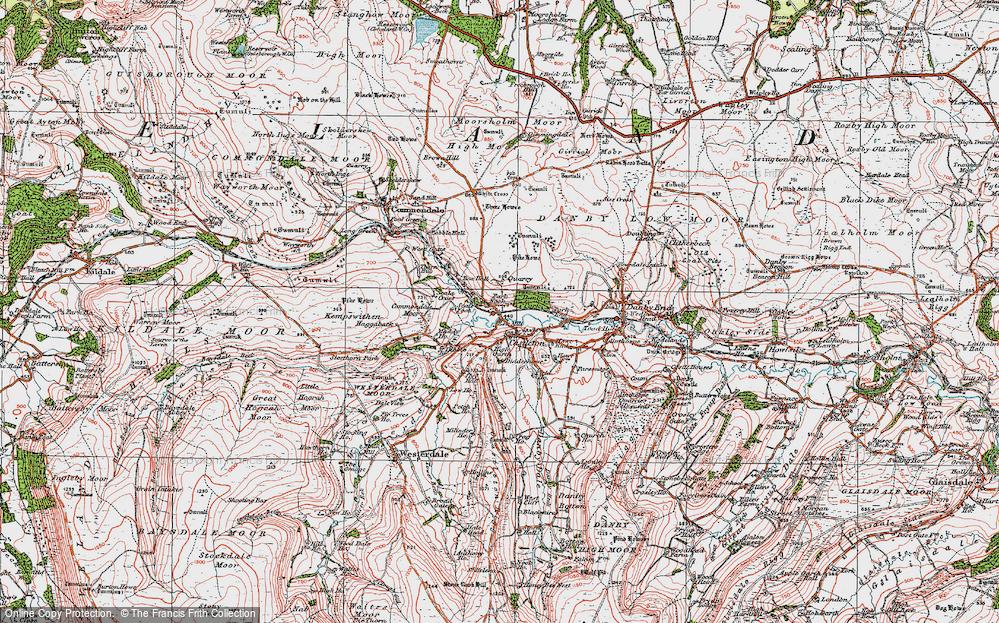 Old Map of Castleton, 1925 in 1925