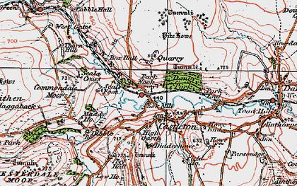 Old map of Castleton in 1925