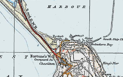 Old map of Balaclava Bay in 1919