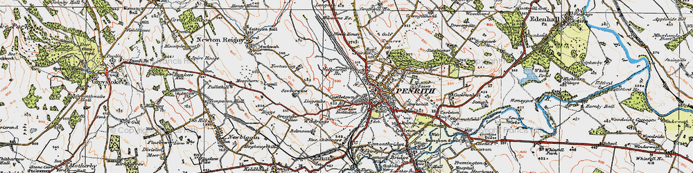 Old map of Wildriggs in 1925