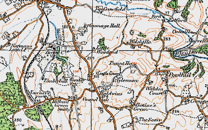 Old map of Aylesmore in 1919