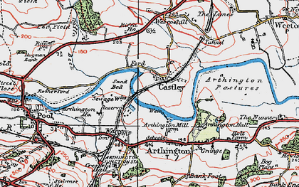 Old map of Arthington Ho in 1925