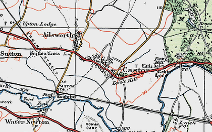 Old map of Castor in 1922