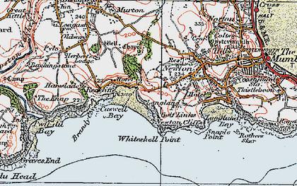 Old map of Whiteshell Point in 1923