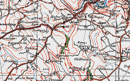 Old map of Catchall in 1919