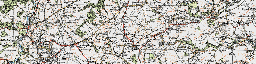 Old map of Catchgate in 1925