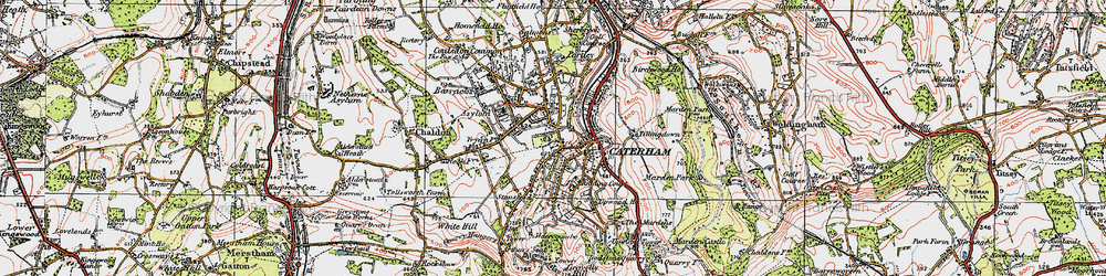 Old map of Caterham in 1920