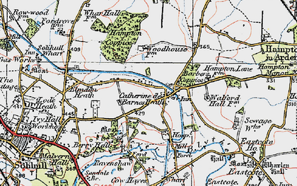 Old map of Barber's Coppice in 1921