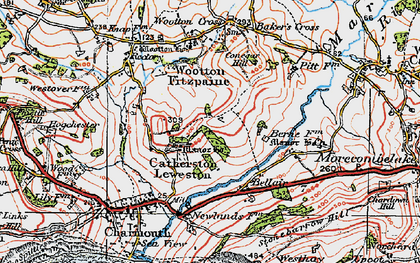 Old map of Baker's Cross in 1919