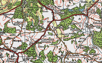 Old map of Catsfield in 1921