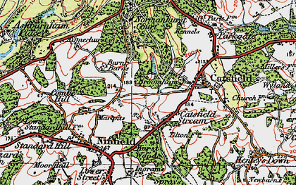 Old map of Tilton in 1921