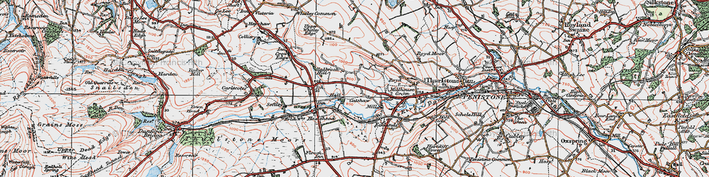 Old map of Catshaw in 1924