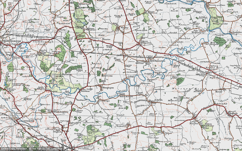 Old Map of Historic Map covering Lingfield Cottage in 1925