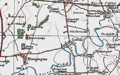 Old map of Lingfield Cottage in 1925