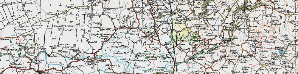 Old map of Westfield in 1924