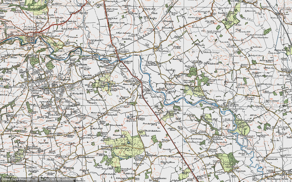 Old Map of Catterick, 1925 in 1925