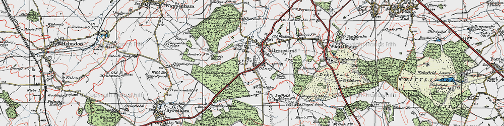 Old map of Wetley's Wood in 1919