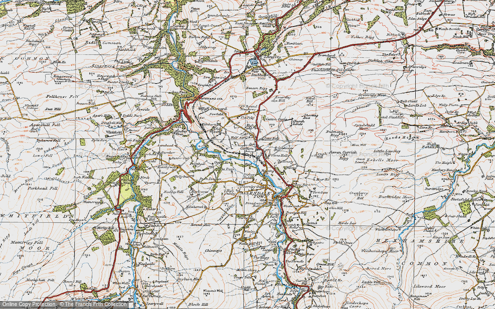 Old Map of Catton, 1925 in 1925