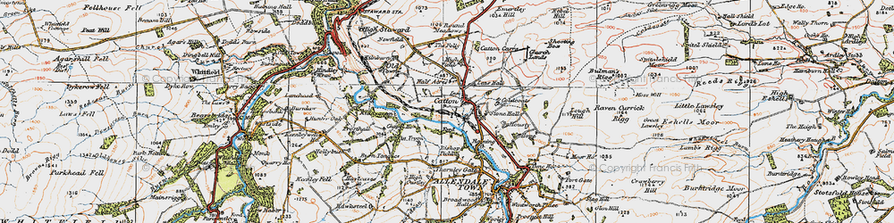 Old map of Wide Eals in 1925