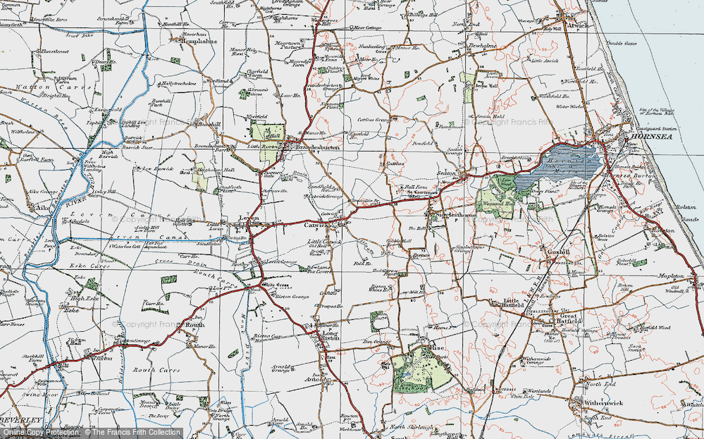 Old Map of Catwick, 1924 in 1924