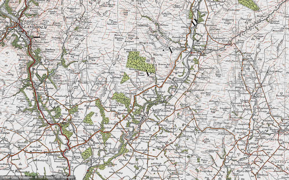 Old Map of Historic Map covering Bankhead in 1925